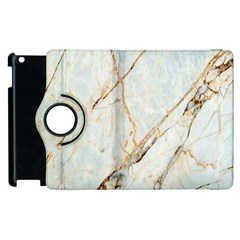Marble Texture White Pattern Surface Effect Apple Ipad 3/4 Flip 360 Case