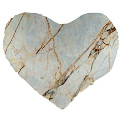 Marble Texture White Pattern Surface Effect Large 19  Premium Heart Shape Cushions