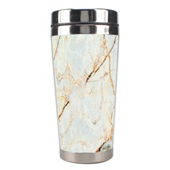 Marble Texture White Pattern Surface Effect Stainless Steel Travel Tumblers by Nexatart
