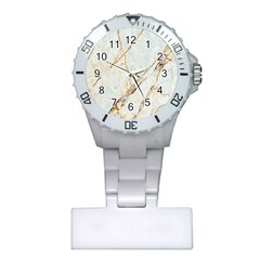 Marble Texture White Pattern Surface Effect Plastic Nurses Watch by Nexatart