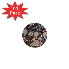 Marbling 1  Mini Buttons (100 Pack)