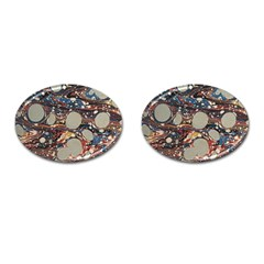 Marbling Cufflinks (oval) by Nexatart
