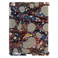 Marbling Apple Ipad 3/4 Hardshell Case (compatible With Smart Cover)