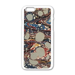 Marbling Apple Iphone 6/6s White Enamel Case by Nexatart