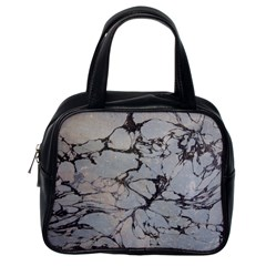 Slate Marble Texture Classic Handbags (one Side) by Nexatart