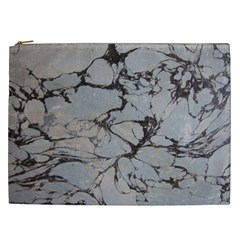 Slate Marble Texture Cosmetic Bag (xxl)