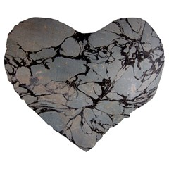Slate Marble Texture Large 19  Premium Heart Shape Cushions