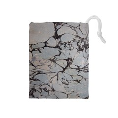 Slate Marble Texture Drawstring Pouches (medium)