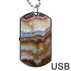 Wall Marble Pattern Texture Dog Tag Usb Flash (one Side)