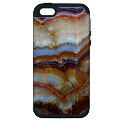 Wall Marble Pattern Texture Apple Iphone 5 Hardshell Case (pc+silicone)