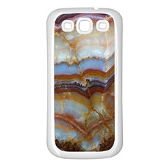 Wall Marble Pattern Texture Samsung Galaxy S3 Back Case (white) by Nexatart