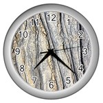 Texture Structure Marble Surface Background Wall Clocks (Silver)  Front