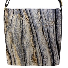 Texture Structure Marble Surface Background Flap Messenger Bag (s)