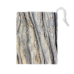 Texture Structure Marble Surface Background Drawstring Pouches (large)