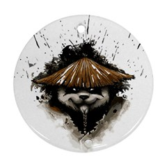 Warrior Panda T Shirt Ornament (round) by AmeeaDesign