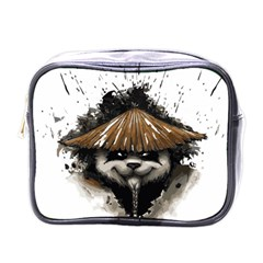 Warrior Panda T Shirt Mini Toiletries Bags by AmeeaDesign