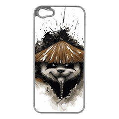 Warrior Panda T Shirt Apple Iphone 5 Case (silver) by AmeeaDesign