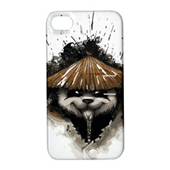 Warrior Panda T Shirt Apple Iphone 4/4s Hardshell Case With Stand by AmeeaDesign