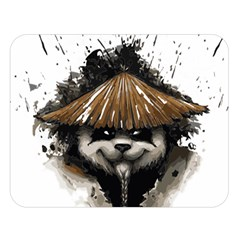Warrior Panda T Shirt Double Sided Flano Blanket (large)  by AmeeaDesign