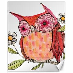 Summer Colourful Owl T Shirt Canvas 11  X 14   by AmeeaDesign