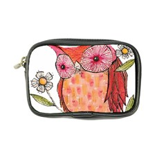 Summer Colourful Owl T Shirt Coin Purse by AmeeaDesign