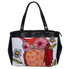 Summer Colourful Owl T Shirt Office Handbags by AmeeaDesign