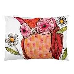 Summer Colourful Owl T Shirt Pillow Case (two Sides) by AmeeaDesign