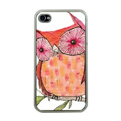 Summer Colourful Owl T Shirt Apple Iphone 4 Case (clear) by AmeeaDesign