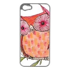 Summer Colourful Owl T Shirt Apple Iphone 5 Case (silver) by AmeeaDesign