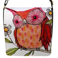Summer Colourful Owl T Shirt Flap Messenger Bag (s) by AmeeaDesign