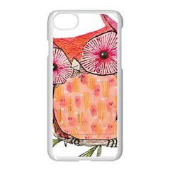 Summer Colourful Owl T Shirt Apple Iphone 7 Seamless Case (white) by AmeeaDesign