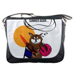 Owl That Hates Summer T Shirt Messenger Bags by AmeeaDesign