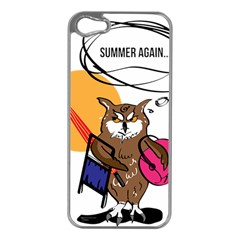 Owl That Hates Summer T Shirt Apple Iphone 5 Case (silver) by AmeeaDesign