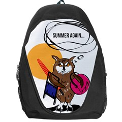 Owl That Hates Summer T Shirt Backpack Bag by AmeeaDesign