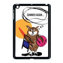Owl That Hates Summer T Shirt Apple Ipad Mini Case (black) by AmeeaDesign