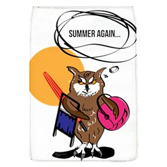 Owl That Hates Summer T Shirt Flap Covers (l)  by AmeeaDesign
