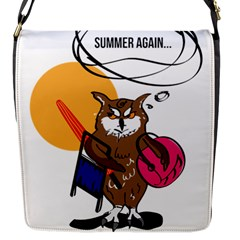 Owl That Hates Summer T Shirt Flap Messenger Bag (s) by AmeeaDesign