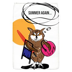 Owl That Hates Summer T Shirt Flap Covers (s)  by AmeeaDesign