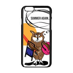 Owl That Hates Summer T Shirt Apple Iphone 6/6s Black Enamel Case by AmeeaDesign