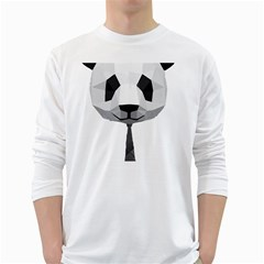 Office Panda T Shirt White Long Sleeve T-shirts by AmeeaDesign