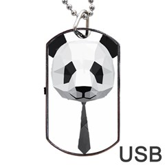 Office Panda T Shirt Dog Tag Usb Flash (one Side) by AmeeaDesign