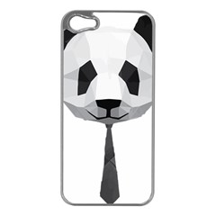 Office Panda T Shirt Apple Iphone 5 Case (silver) by AmeeaDesign