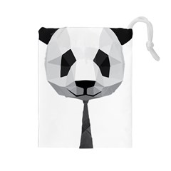 Office Panda T Shirt Drawstring Pouches (large)  by AmeeaDesign