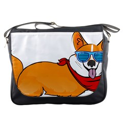 Corgi With Sunglasses And Scarf T Shirt Messenger Bags by AmeeaDesign