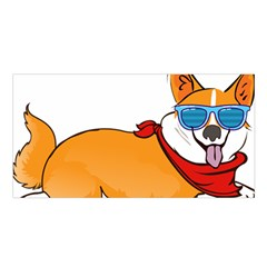Corgi With Sunglasses And Scarf T Shirt Satin Shawl by AmeeaDesign