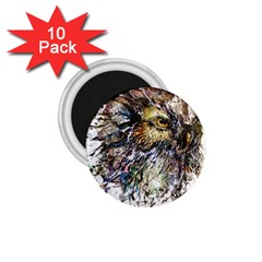 Angry And Colourful Owl T Shirt 1 75  Magnets (10 Pack)  by AmeeaDesign