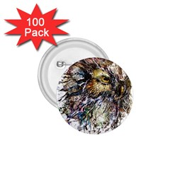 Angry And Colourful Owl T Shirt 1 75  Buttons (100 Pack)  by AmeeaDesign