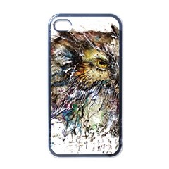 Angry And Colourful Owl T Shirt Apple Iphone 4 Case (black) by AmeeaDesign