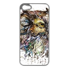 Angry And Colourful Owl T Shirt Apple Iphone 5 Case (silver) by AmeeaDesign