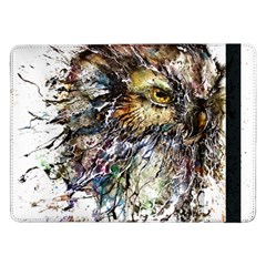 Angry And Colourful Owl T Shirt Samsung Galaxy Tab Pro 12 2  Flip Case by AmeeaDesign